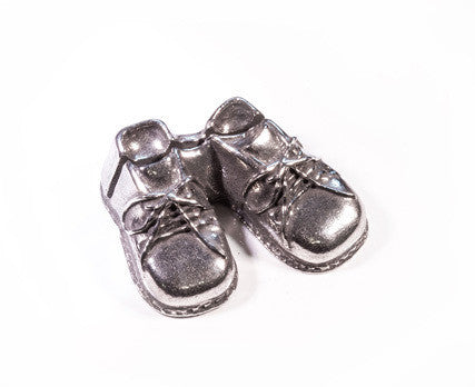 Baby Booties Pewter Place Card Holder