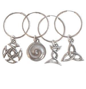 Celtic Knots Pewter Wine Glass Markers