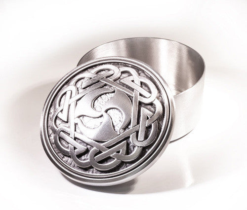 Celtic Spiral Pewter Memory Box