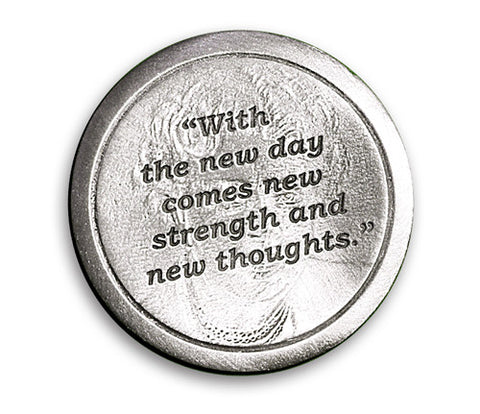 "Eleanor Roosevelt Coin of Inspiration – ""With the new day…"""