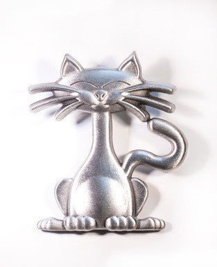 Cuddly Kitten Pewter Brooch