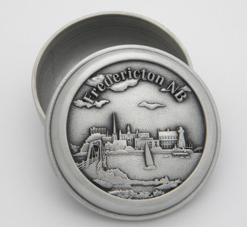 Fredericton Site Specific Pewter Memory Box
