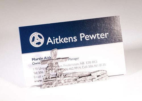 Inukshuk Business Card Holder