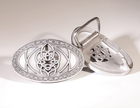 Large Celtic Knot Pewter Belt Buckle