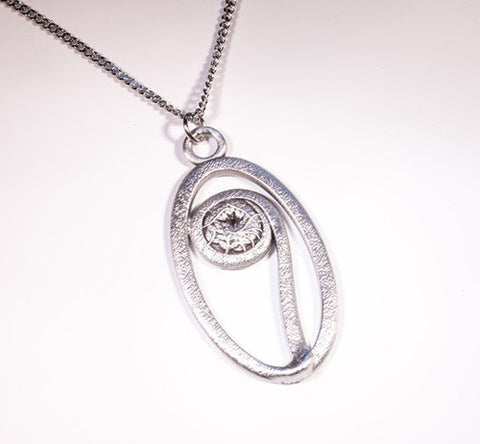 NB Fiddlehead Pewter Pendant