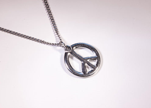 Peace Carved Pewter Pendant