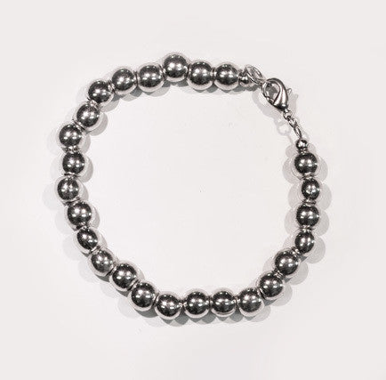 Pewter Pearls Bracelet