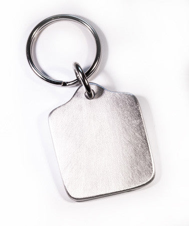 Plain Square Pewter Keytag