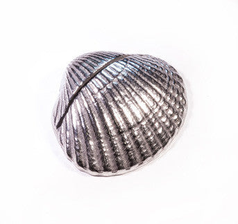 Shell Pewter Place Card Holder