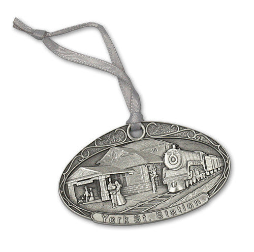 Fredericton Train Station- Pewter Ornament - Site Specific
