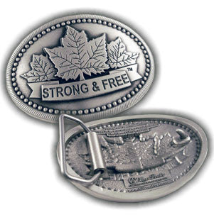 Belt Buckle - Strong and Free - Large
