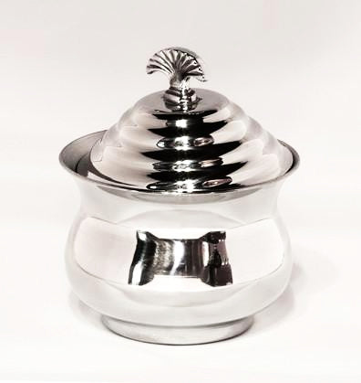 Pewter Sugar Bowl with decorative top