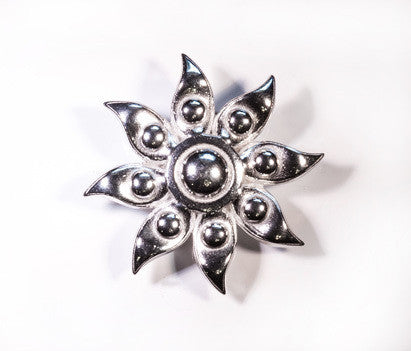Sunset Pearl Pewter Brooch