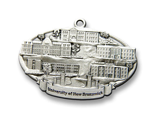 The University of New Brunswick Ornament pewter
