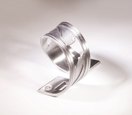 Turning Leaf Pewter Napkin Ring
