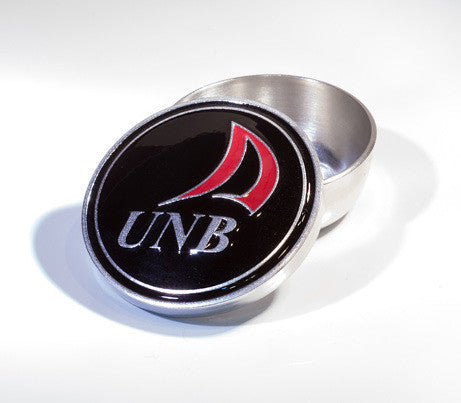 Black and Red UNB Enamelled Pewter Memory Box -