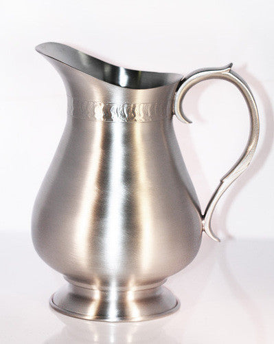 Pewter Large Water Pitcher