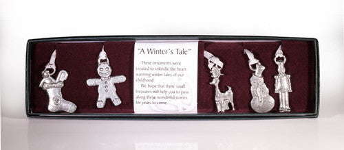 Winters Tale Collection Pewter Ornaments