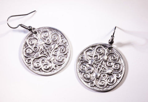 York Celtic Pewter Earrings