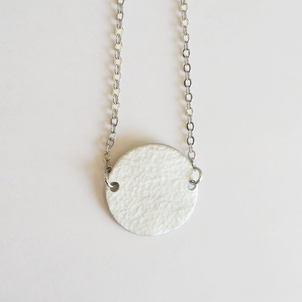 Hammered Pewter Pendant