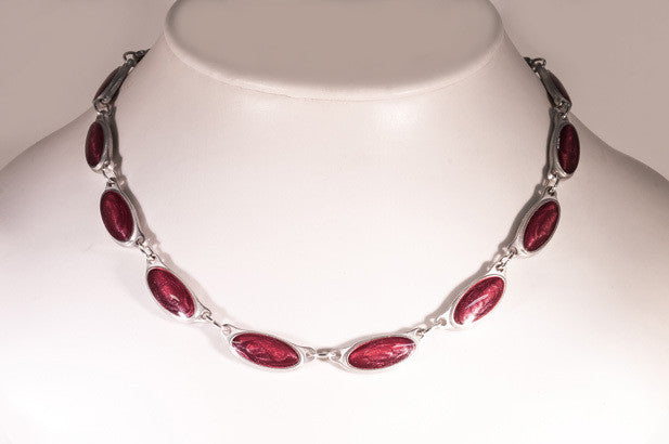 Deep Red  Inspiration Pewter Neckware