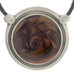 Inspiration Pendant. Brown Enamel. Necklace. Black Cord. Made from Pewter.  Made in Fredericton NB New Brunswick Canada