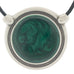 Inspiration Pendant. Green Enamel. Necklace. Black Cord. Made from Pewter.  Made in Fredericton NB New Brunswick Canada