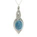 light blue pewter allure pendant pewter jewelry
