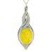 yellow pewter allure pendant pewter jewelry