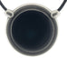 Inspiration Pendant. Black Enamel. Necklace. Black Cord. Made from Pewter.  Made in Fredericton NB New Brunswick Canada