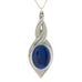 blue pewter allure pendant pewter jewelry