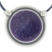 Inspiration Pendant. Violet Enamel. Necklace. Black Cord. Made from Pewter.  Made in Fredericton NB New Brunswick Canada