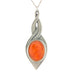 orange pewter allure pendant pewter jewelry