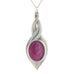 pink pewter allure pendant pewter jewelry