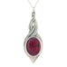 red pewter allure pendant pewter jewelry