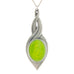 lime green pewter allure pendant pewter jewelry