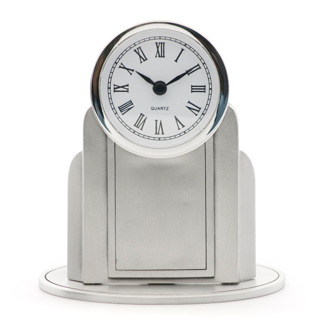 Atlantica Clock. Satin finish. Made from Pewter. Made in Fredericton NB New Brunswick Canada