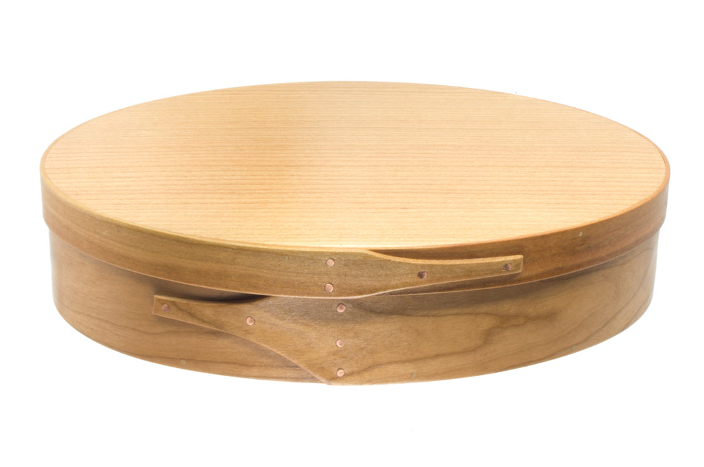 Shaker Oval Box. Made of wood by Brent Rourke. Christmas Bells. Made in Fredericton NB New Brunswick Canada