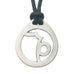 Capricorn Zodiac Pendant. Made from Pewter. Black cord. Necklace. Made in Fredericton NB New Brunswick Canada