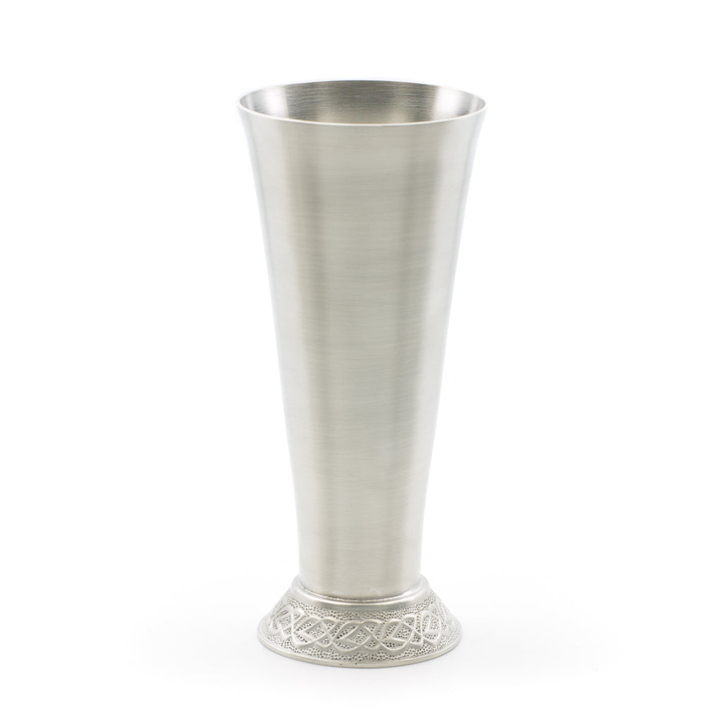 Celtic Bud Vase. Satin finish. Made from Pewter. Made in Fredericton NB New Brunswick Canada