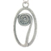 polished pewter fiddlehead pendant
