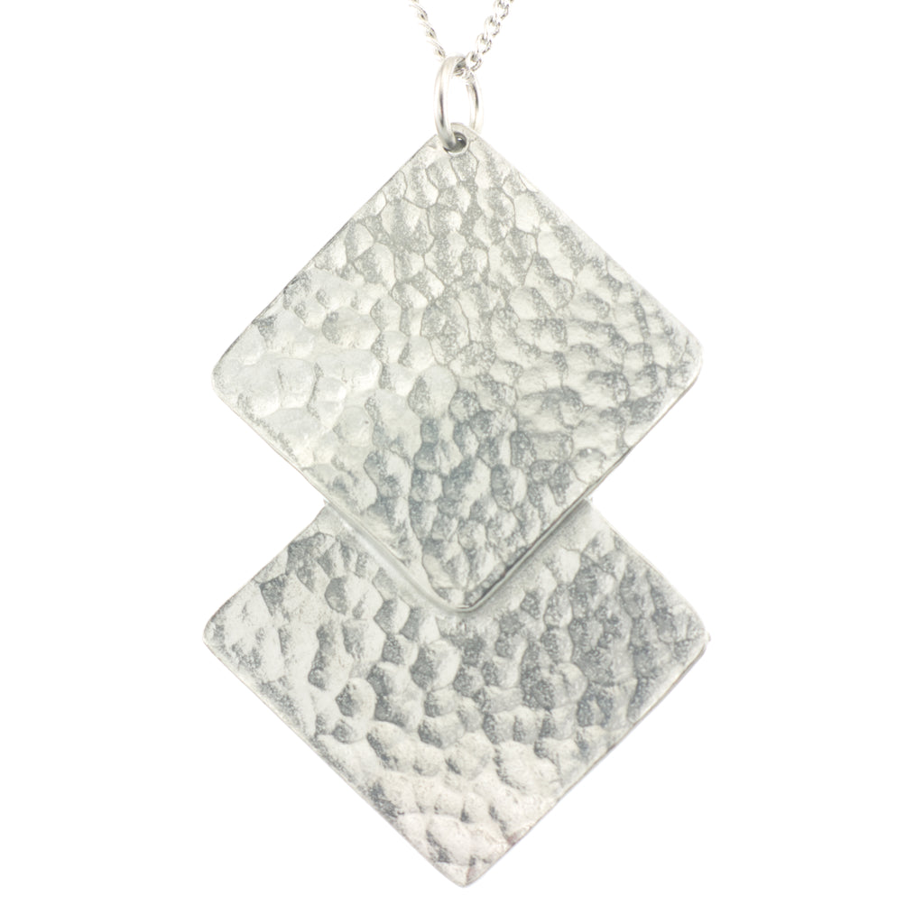 Hammered Square Pendant
