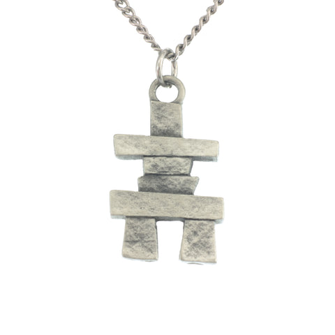 Inukshuk Pendant. Made from Pewter. Necklace. Made in Fredericton NB New Brunswick Canada