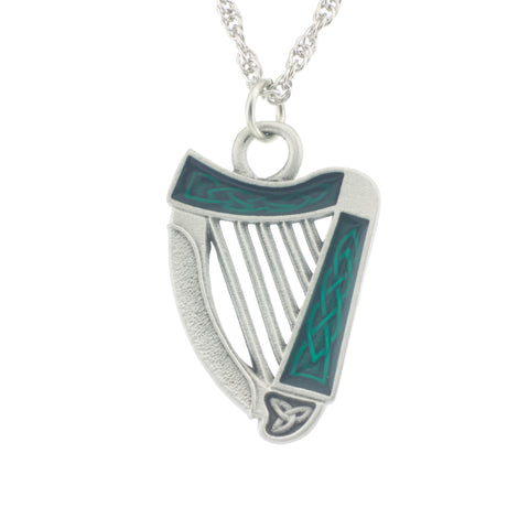 Irish Harp Pendant