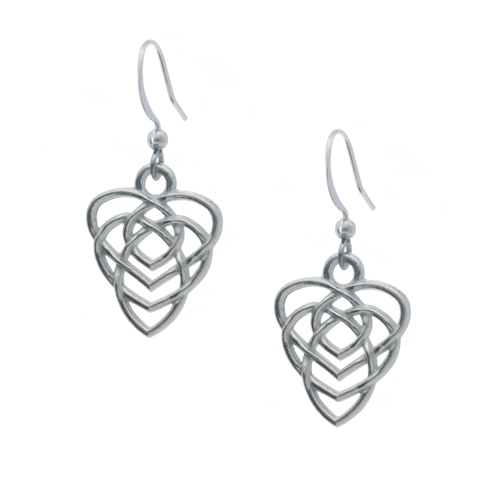 Knot of Motherhood Earring. Made from Pewter. Made in Fredericton NB New Brunswick Canada