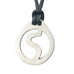Leo Zodiac Pendant. Made from Pewter. Black cord. Necklace. Made in Fredericton NB New Brunswick Canada