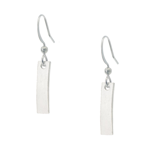 Liscio Earring. Made from Pewter. Made in Fredericton NB New Brunswick Canada