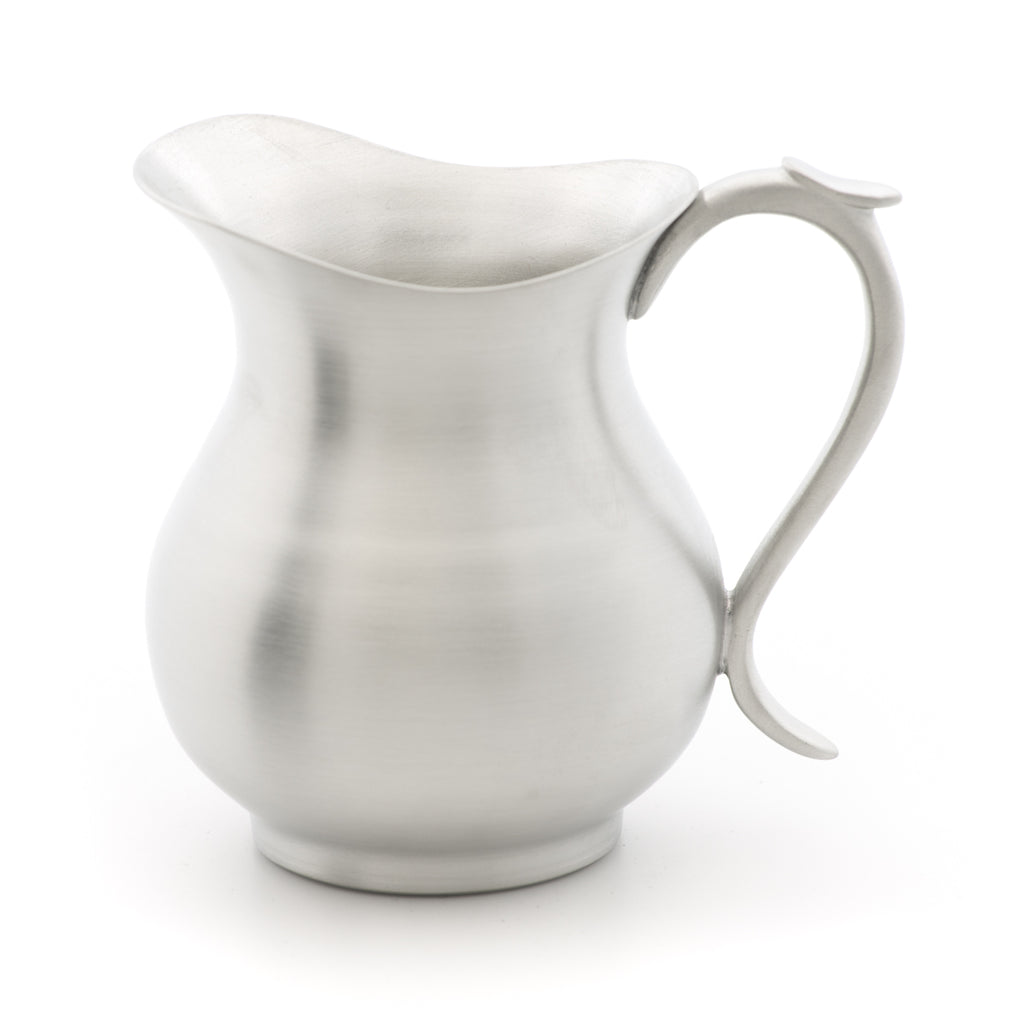 Creamer. Satin Finish. Made from Pewter. Made in Fredericton NB New Brunswick Canada