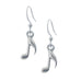 Music Note Earring. Polish finish. Made from Pewter. Made in Fredericton NB New Brunswick Canada