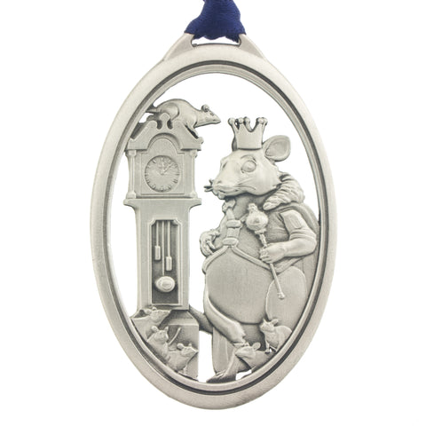 The Nutcracker. Rat King. Ballet. Dance. Annual Series. 2016. Christmas Tree ornament. Made from Pewter. Blue ribbon. Made in Fredericton NB New Brunswick Canada